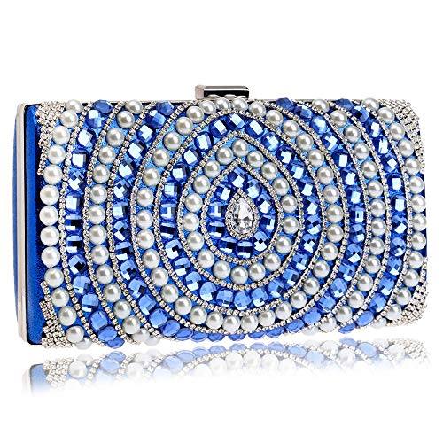 Pearl Bag Fashion Bag Bag Crossbody Dress Luxury Evening Banquet Lady GROSSARTIG Blue Clutch Bride ETdwqT
