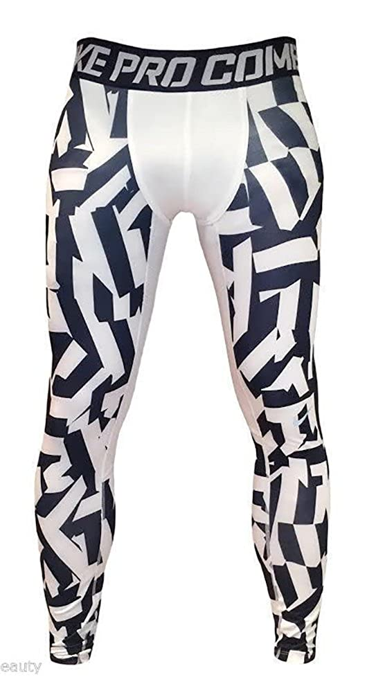 531939a368 Amazon.com: Nike Men's PRO Hyperwarm Compression Tight Pant Printed (Large,  Camo Print) Black/White: Clothing