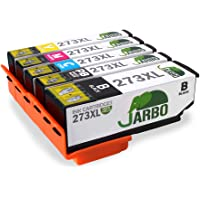 JARBO Replacement Epson 273XL Ink Cartridges High Yield, (1 Black 1 Photo Black 1 Cyan 1 Magenta 1 Yellow), Used in…