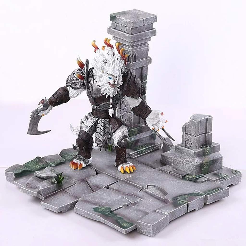 YIFNJCG League of Legends LOL Charakter Modell Rennes Gard Hunter Spielzeug Souvenirs Geschenk Sammlung Handwerk Dekorationen 27 cm