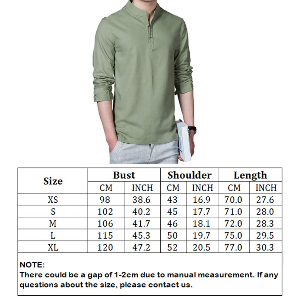Pinkpum - Camisa de Manga Larga para Hombre, Estilo Informal, con ...