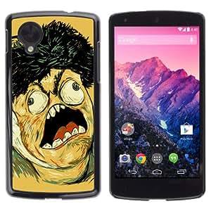 YOYOSHOP [LOL WTF MEME TROLL FACE] LG Google Nexus 5 Case