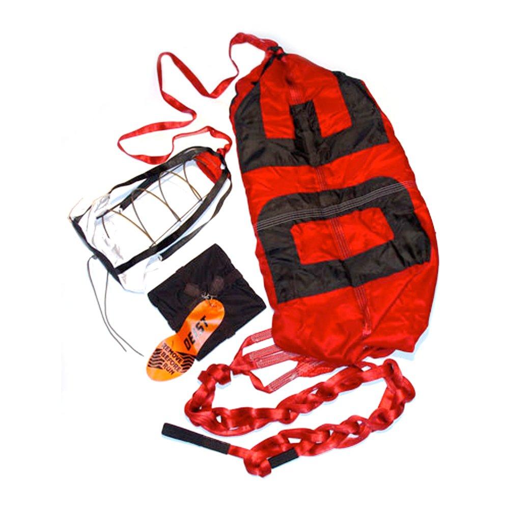 Deist Safety 27252RD Super Quad Red 12 Parachute