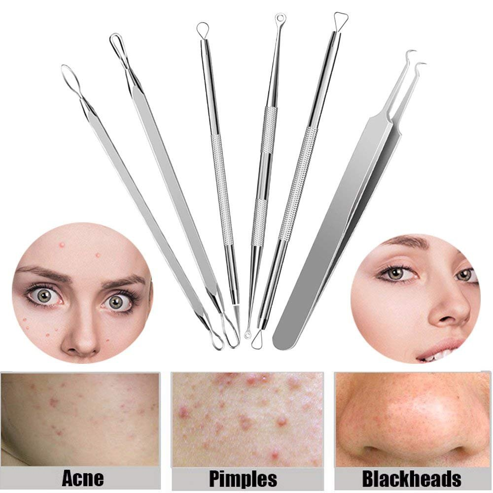 CHIMOCEE Professional Surgical Blackhead Remover Tools, Blemish and  Splinter Acne Pimple Removal