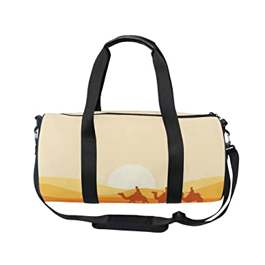 0e5911411a Image Unavailable. Image not available for. Color  Cooper girl Sunset  Camels Duffels Bag Travel Sport Gym Bag