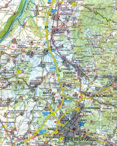 Selva Negra, mapa de carreteras. Escala 1:150.000. Freytag ...