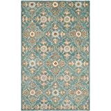 Safavieh Heritage Collection HG870A Handcrafted Traditional Turquoise and Multi Wool Area Rug (4′ x 6′) For Sale