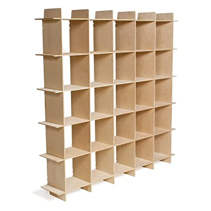 Sprout Modern Wood Cube Bookcase Folding American Made