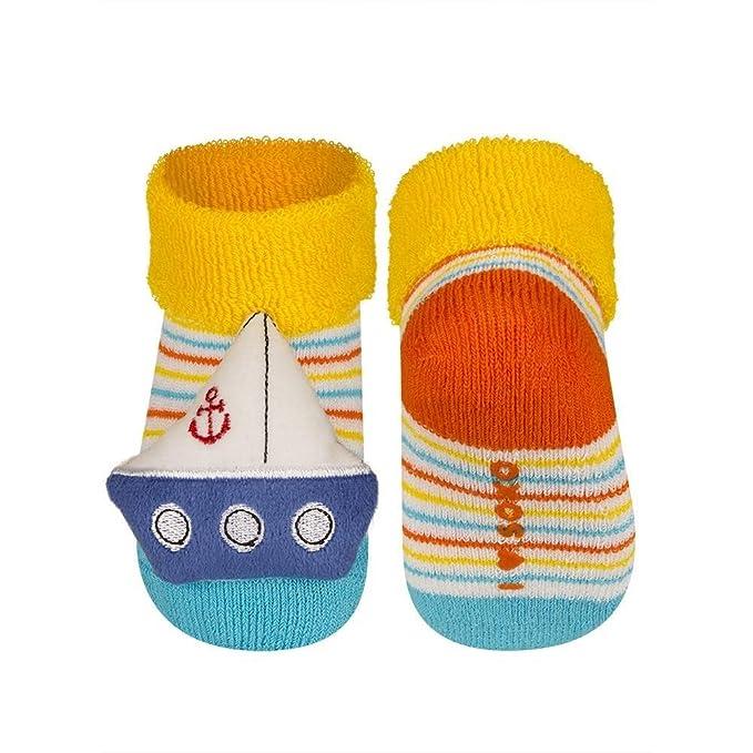 farbenfrohe Baumwolle Hochwertige soxo Baby Rasselsocken mit einer Wundersch/önen bunte Rassel