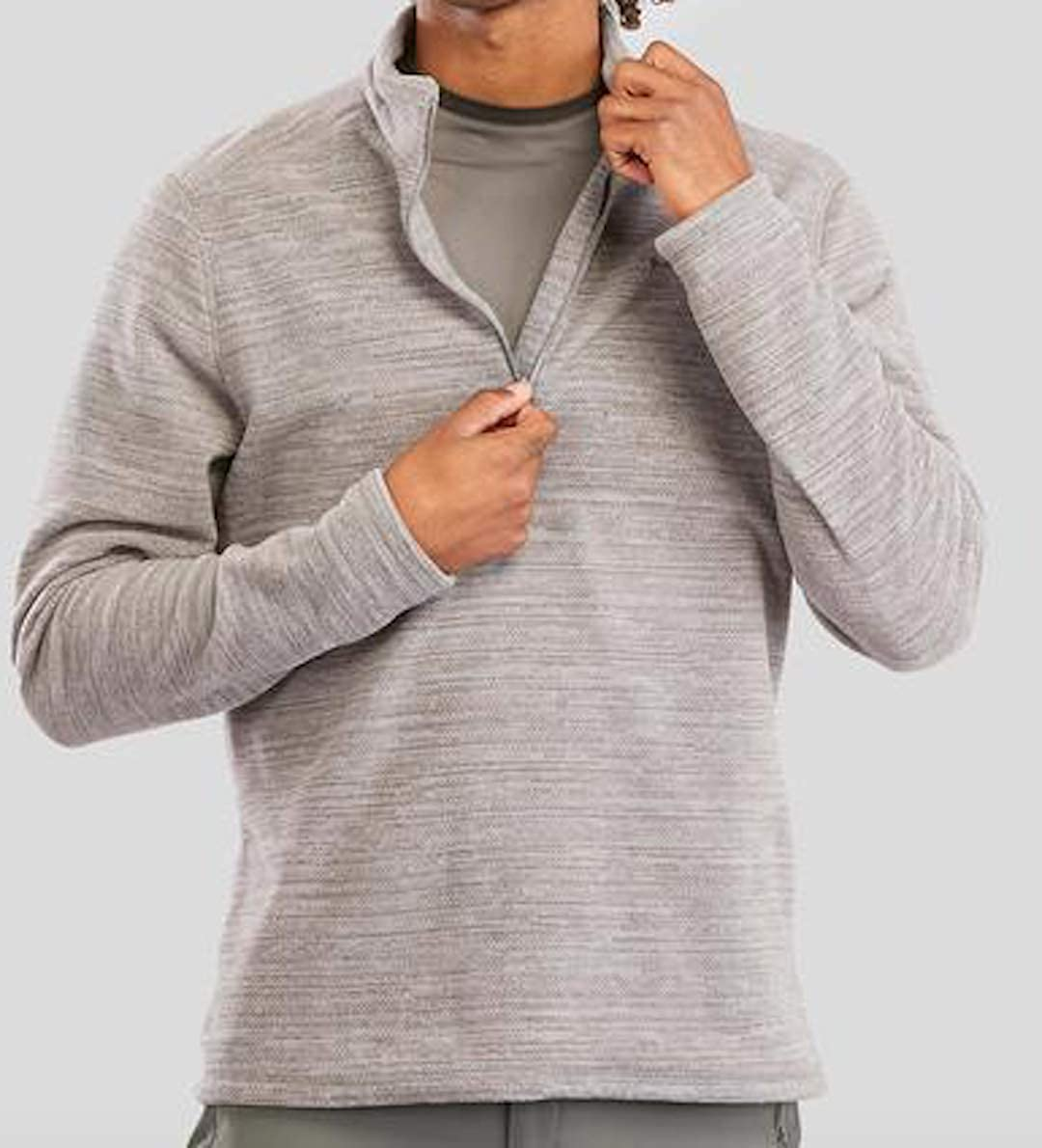 Men/'s Mountain Fantastic Gray Fleece Designed for Hiking in Cold Weather Confort Temperature of 45/°F 50/°F