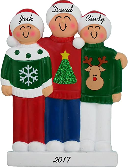 Ugly Sweater 4 People Ornament
