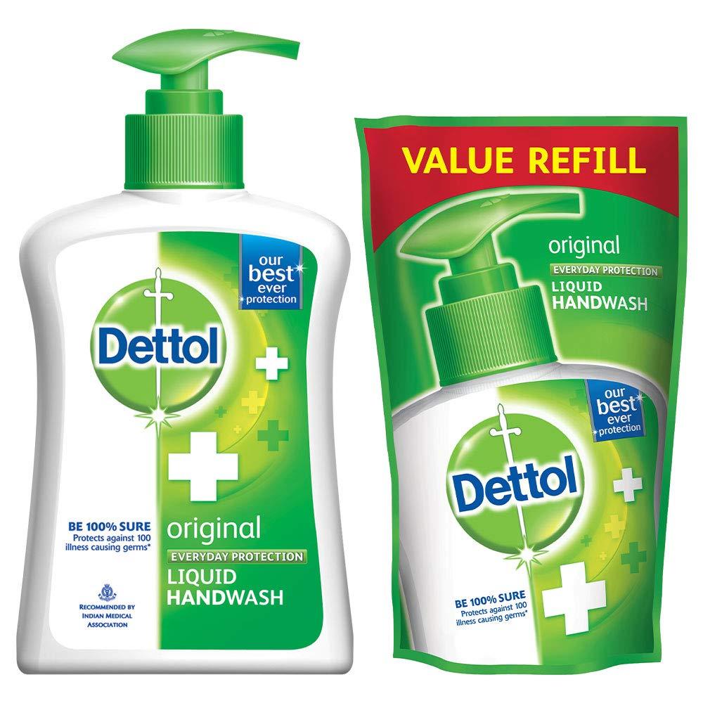 Combo Loot | Dettol Liquid Handwash (Original) - 200 ml with Free Liquid Handwash - 175 ml (Any Variant)