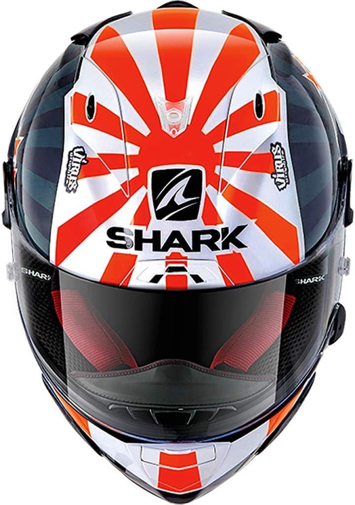 Shark Unisex-Adult Full Face Race R PRO ZARCO 2019-Blue/White/Orange- M. (Multi, M)