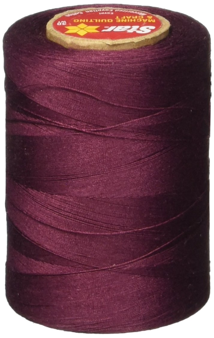 Star Thread V37-041B 3-Ply 30wt T-35 Cotton Quilting /& Craft Thread 1200 yd Maroon