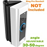 ADJUSTABLE (30 to 50 degree) Angle Mount for Ring Video Doorbell Pro (Released in 2016), Homono Angle Adjustment Adapter / Mounting Plate / Bracket / Wedge Kit (Doorbell NOT included)