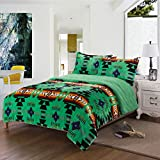 Southwest Design (Navajo Print) King Size 3pcs Set 16112 Neon Green