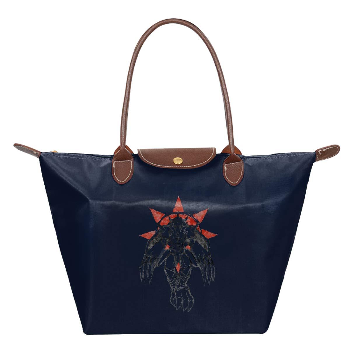 Di-gimon Wargreymon Grafitti Crest Of Courage Waterproof Leather Folded Messenger Nylon Bag Travel Tote Hopping Folding School Handbags