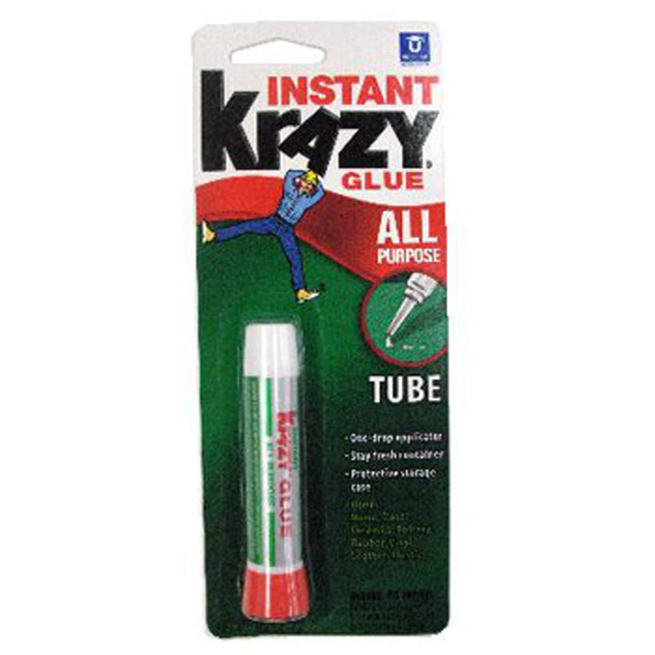 (Pack of 36) Krazy Bond Glue Original, Red Cap, Precision Tip, 1ct .7oz