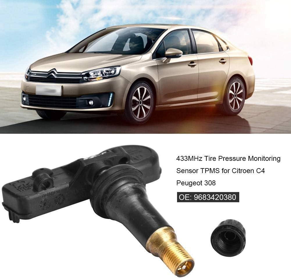 Sensore di monitoraggio della pressione dei pneumatici 433MHz Sensore di monitoraggio della pressione dei pneumatici TPMS per Citroen C4 308 9683420380