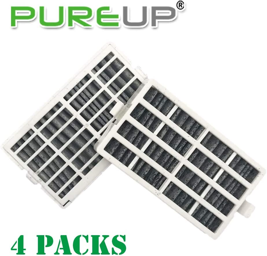 Pureup 4 Packs Refrigerator Air Filter Replacement for Whirlpool W10311524 AIR1, 2 Filters Also Fits 2319308, W10335147, W10335147A W10335147 W10315189 1876318 AIR1 FreshFlow Air Filter, AP4538127