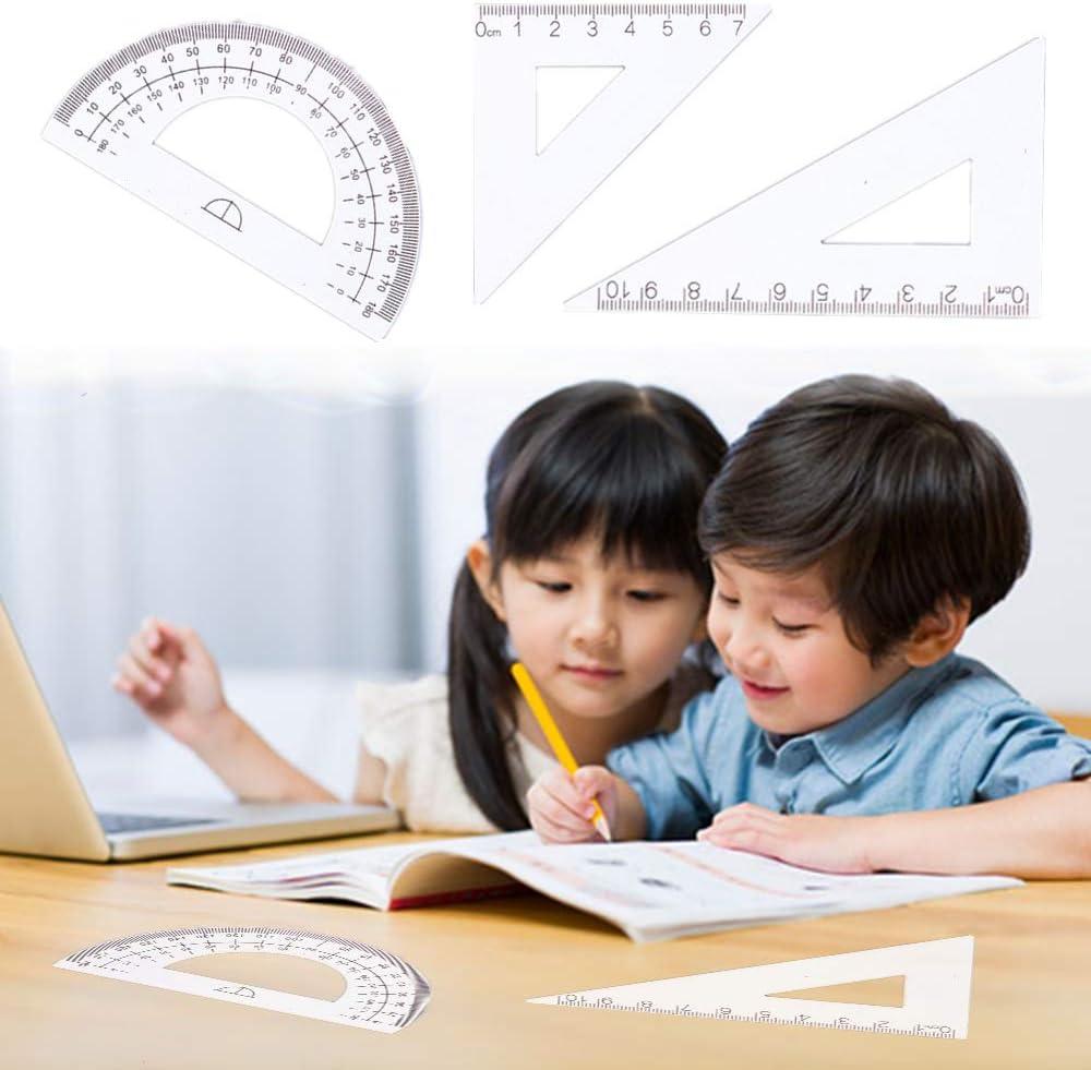 2 set di strumenti di geometria matematica durevole righello in alluminio per insegnanti e progettisti architetto ingegnere