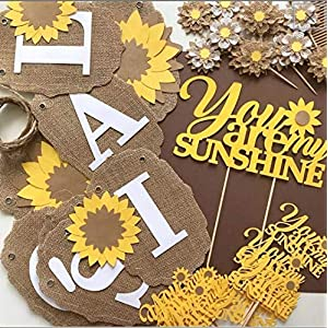 Sunflower Party Decoration Kit, You Are My Sunshine PARTY PACKAGE, Sunflower Baby Shower, Sunflower Bridal Shower, Party In A Box