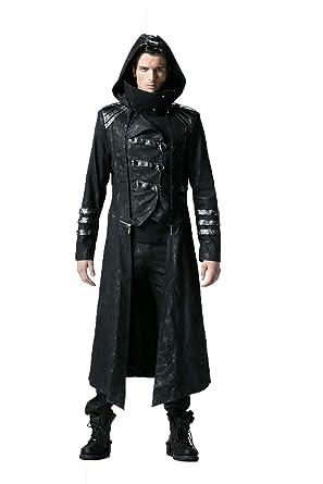 Herren Winter Gothic Steampunk Dick Lange Mantel L ssig Jacke Stand Kragen  Lange Jacke M ntel Abnehmbare Hem, 6 Gr  en  Amazon.de  Bekleidung 4d98c92bd3