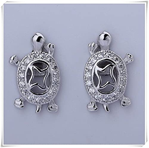 Amazon.com: Tiny tortuga de mar arete plata de ley 925 ...