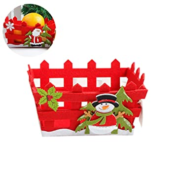 Wudi Pieza de Navidad Fruit Baloncesto simpático Candy ...