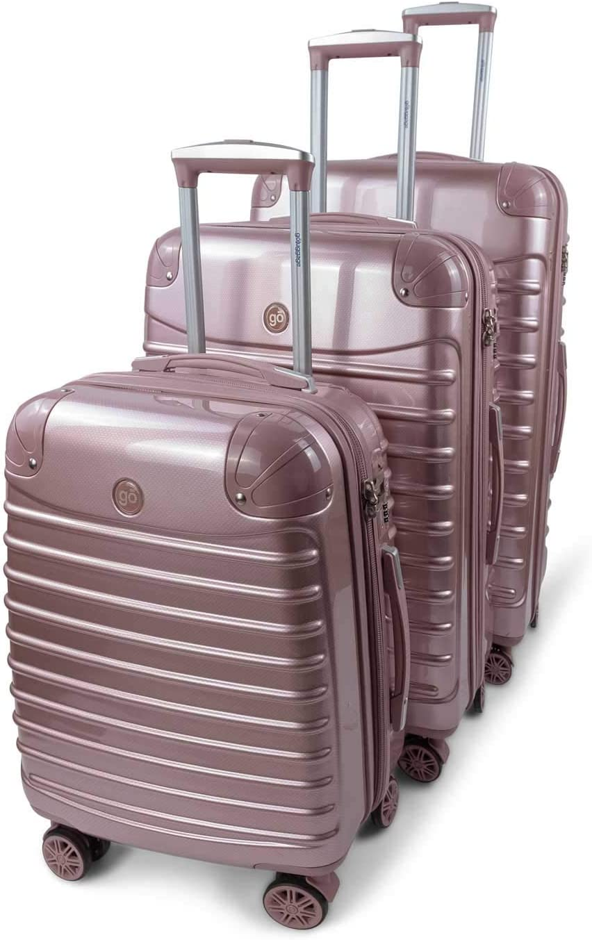 GoLuggage Modern Hard Suitcase Set – Higest Quality Large Carry On Hard Travel Case With Wheels – Best Deal For The Best Quality Beige
