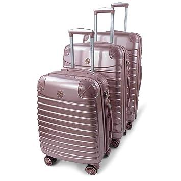 Amazon.com: GoLuggage - Juego de maletas rígidas modernas ...