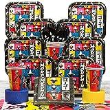 Costume Supercenter BBKIT869 Power Rangers Dino Charge Birthday Party Deluxe Tableware Kit