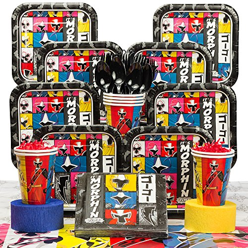 Costume Supercenter BBKIT869 Power Rangers Dino Charge Birthday Party Deluxe Tableware -