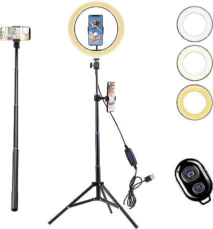 Autaky Led Ringlicht 25 4 Cm Selfie Ringlicht Mit Kamera