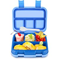 Lunch Box Bigger for Kids Boys Bento Box BPA-Free DaCool Toddler School Lunch Container with Spoon Compartments Leak Proof Durable, Meal Fruit Snack Packing for Picnic Outdoors, Microwave Safe - Blue