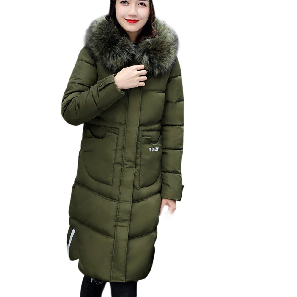 DongDong ❤Women's Fashion Down Jacket, Winter Slim Thicker Down Lammy Hoodie Long Overcoat by DongDong