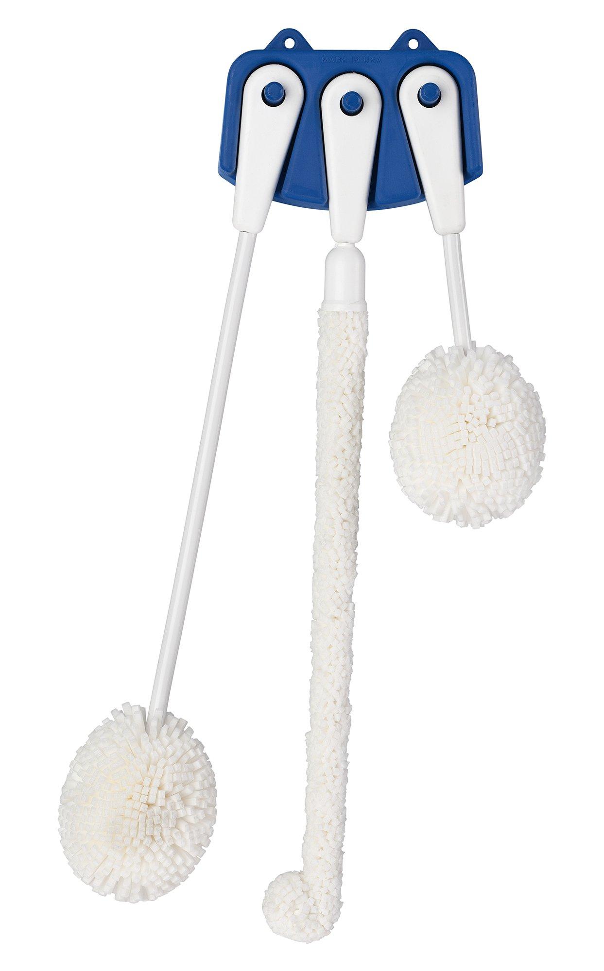 Chemglass CG-1141-01 Foam Brush Set, Glassware Cleaning, 2'' Height
