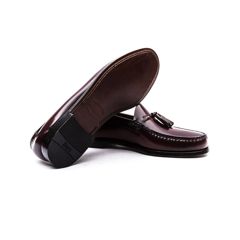 35e4f0c6c6c G.H. Bass Weejuns Larkin Tassel Loafers Black Leather  Amazon.co.uk ...