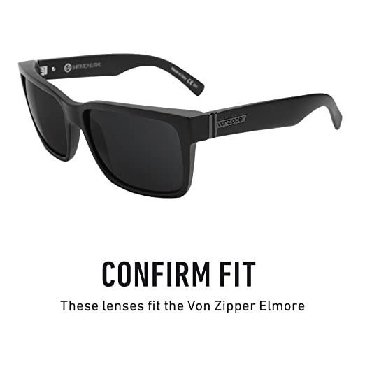 5eb3a7d410 Revant Polarized Replacement Lenses for VonZipper Elmore Elite Black Chrome  MirrorShield®  Amazon.co.uk  Clothing
