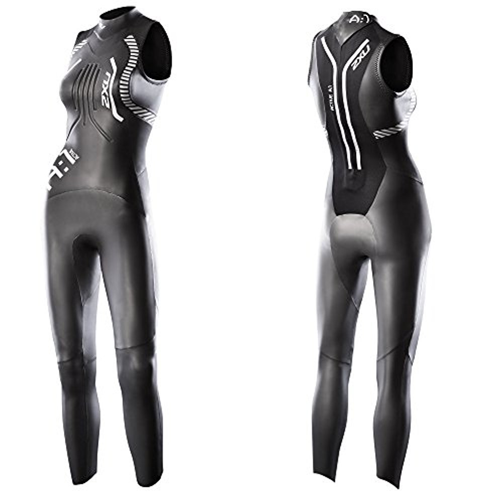 2XU Women's A:1 Active Sleeveless Wetsuit, X-Small, Black/White