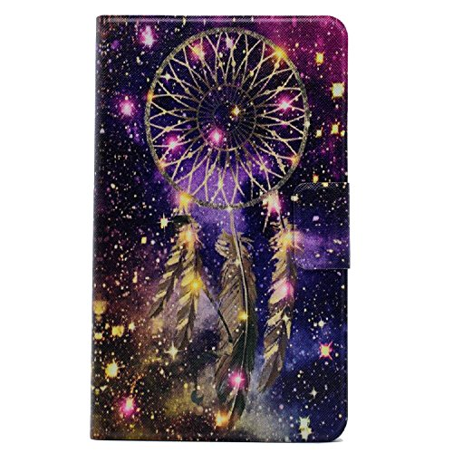 Amazon Fire HD 8 Case, Gift-Hero(TM) 360 Degree Rotating Ultra Slim Leather Smart Stand Case Cover for Amazon Kindle Fire HD 8 inch 2016 Version (Dream Catcher)