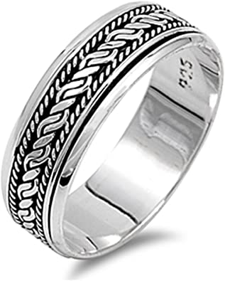 Bishilin Tungsten Carbide Wedding Ring Comfort Fit Matte Finish Silver 4MM for Women Men,Size 7