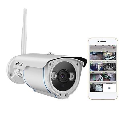 Sricam Cámara IP de Vigilancia Wifi 720P (IP66, IR-Cut, Visión Nocturna