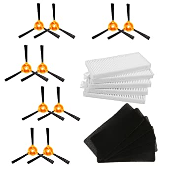 10pcs (5 pares) Side Brush +5 HEPA Filter +5 Sponge CONGA EXCELLENCE 990 Robot Piezas de aspiradora: Amazon.es: Hogar