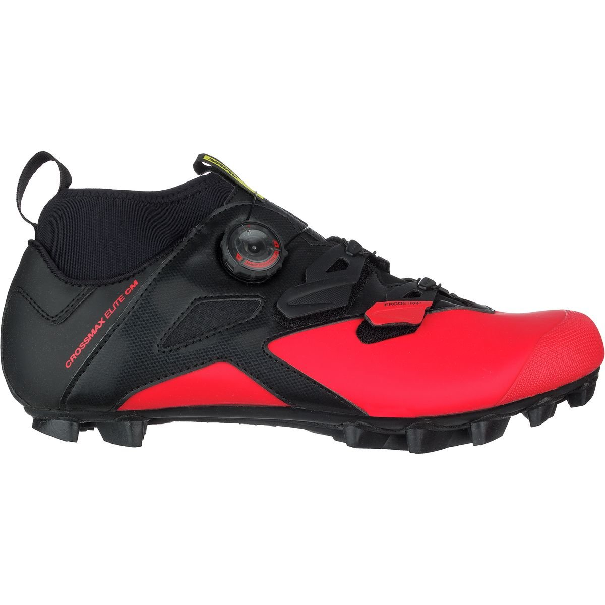 Mavic Crossmax Elite CM Shoe – Men 's Black/Fiery Red/ブラック、US 7.5 / UK 7.0   B0711VBHQS