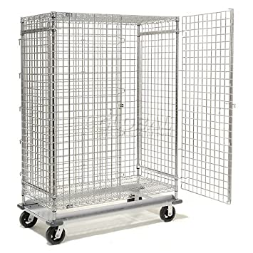 0ef86683582 Nexel Wire Security Storage Truck 36x24x70 with Dolly Base 1600 Lb. Cap.   Amazon.ca  Tools   Home Improvement