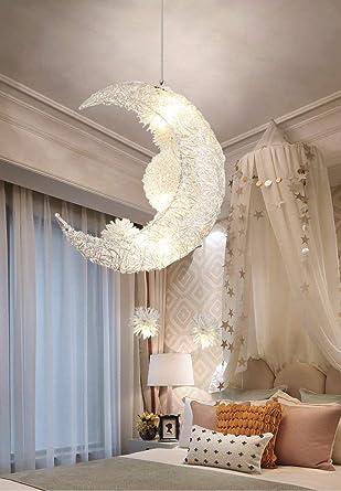 Creative Moon And Stars Fairy LED Pendant Lamp Chandelier