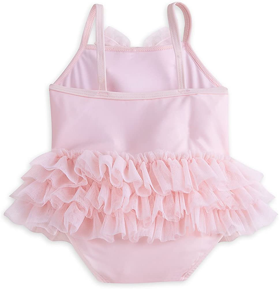 Disney Winnie The Pooh Layette Bathing Suit and Swim Cap Set for Baby Pink