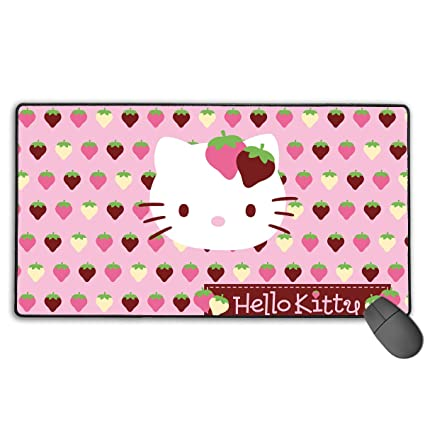 1b7b1664c Amazon.com: WSXEDC Cute Hello Kitty Strawberry High-Performance Mouse Pad  Extended Mousepad for Desktop/Laptop/Keyboard/Consoles: Home & Kitchen