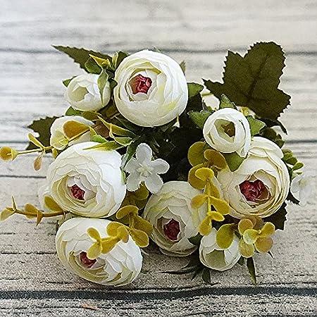Mini Rose Pas Cher Fleurs Artificielles Fleur en Soie pour